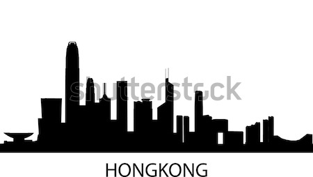 Skyline Hongkong Stock photo © unkreatives