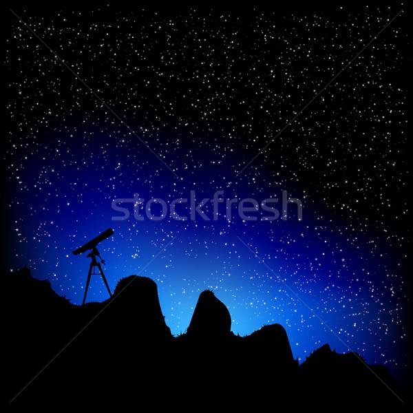 Télescope étoiles détaillée illustration résumé Photo stock © unkreatives