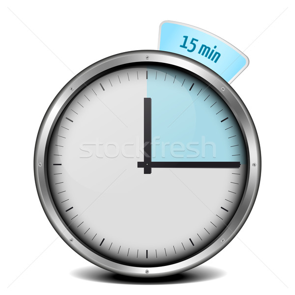 15min timer Stock photo © unkreatives