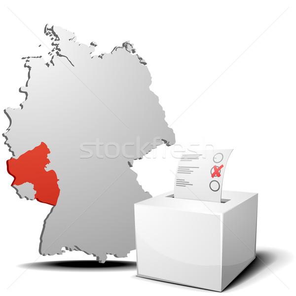 vote germany Rhineland-Palatinate Stock photo © unkreatives