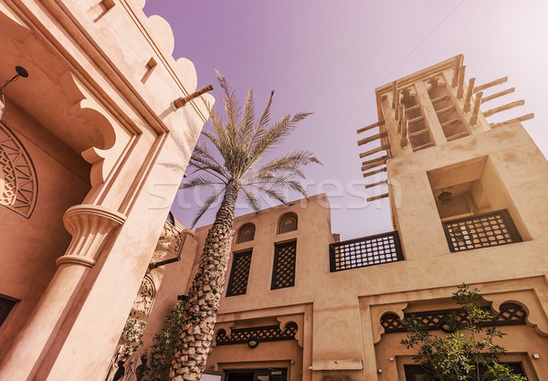 Historique bâtiments typique historique soleil Photo stock © unkreatives