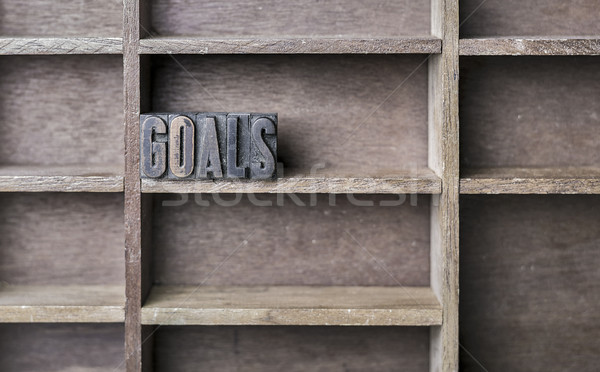 Wooden Letter Goals Stock photo © unkreatives