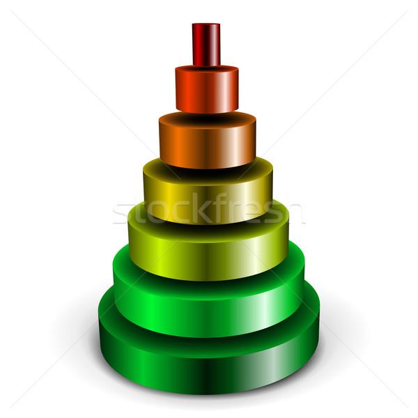 Métallique cylindre pyramide illustration différent Photo stock © unkreatives