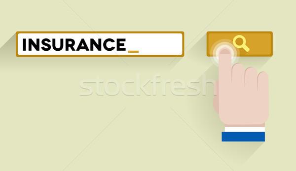 Recherche assurance illustration bar Photo stock © unkreatives