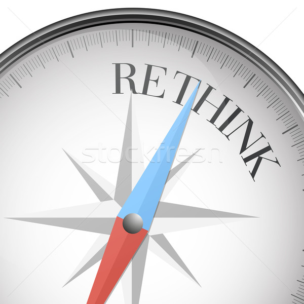 compass Rethink Stock photo © unkreatives