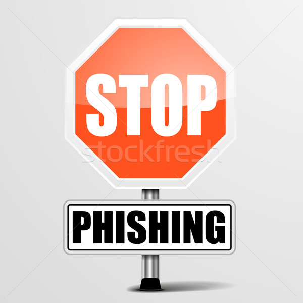 Arrêter phishing détaillée illustration rouge Photo stock © unkreatives