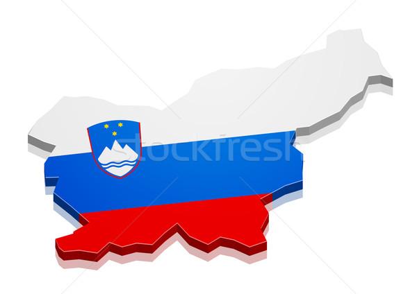 Map Slovenia Stock photo © unkreatives
