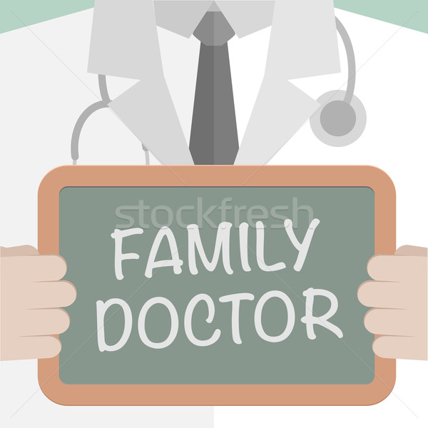 Stock photo: Medical Board Family Doctor