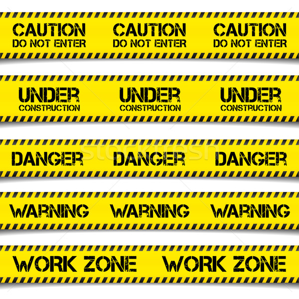 Construction Caution Tapes Stock photo © unkreatives