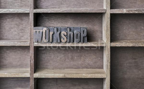 Wooden Letter Workshop Stock photo © unkreatives