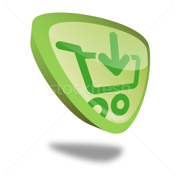 Button Shopping Cart Stock photo © unkreatives