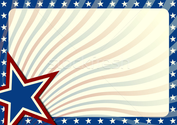 Stars and Stripes background Stock photo © unkreatives