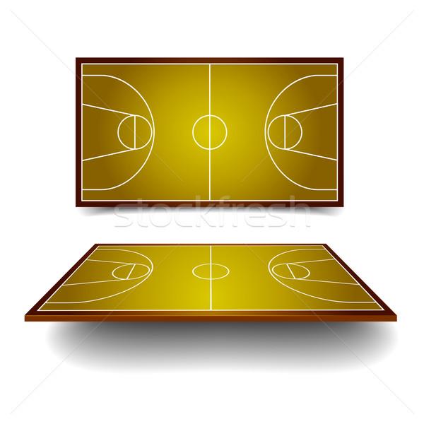 basketball court Stock photo © unkreatives
