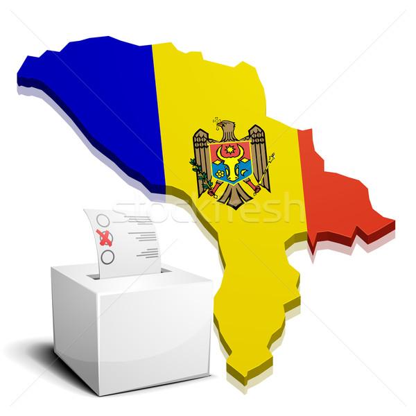 Moldova részletes illusztráció térkép eps10 vektor Stock fotó © unkreatives