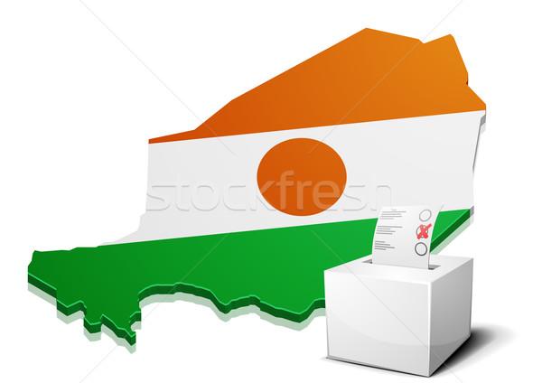ballotbox Niger Stock photo © unkreatives