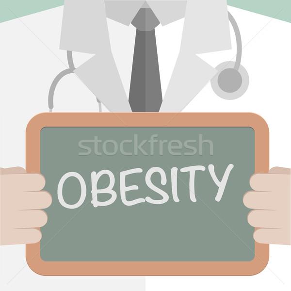 Medizinischen Bord Fettleibigkeit Illustration Arzt Stock foto © unkreatives