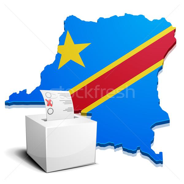 Dr Kongo ayrıntılı örnek harita demokratik Stok fotoğraf © unkreatives
