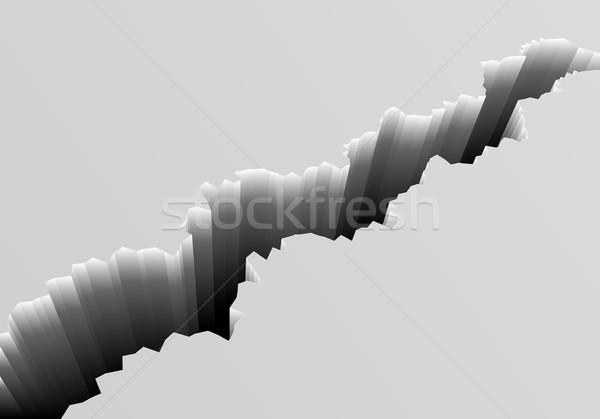 Mély törés részletes illusztráció szürke föld Stock fotó © unkreatives