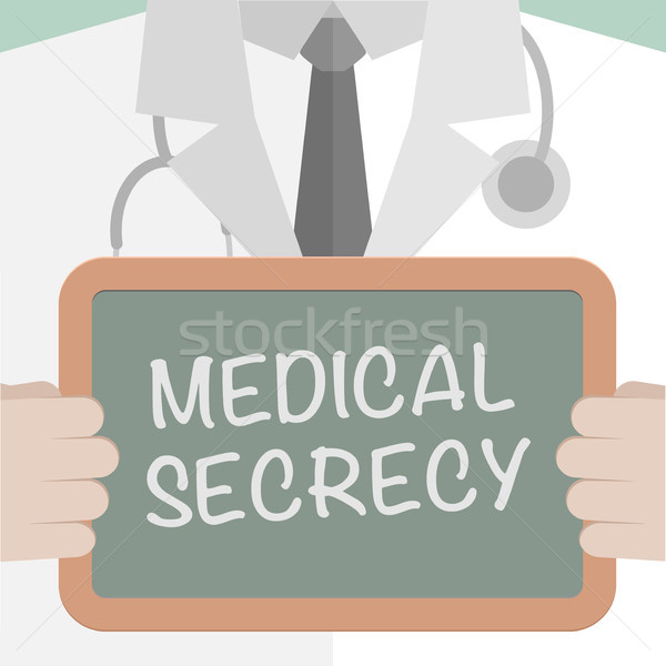 Board Medical Secrecy Stock photo © unkreatives