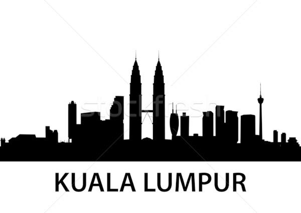 Skyline Куала-Лумпур подробный Малайзия бизнеса служба Сток-фото © unkreatives