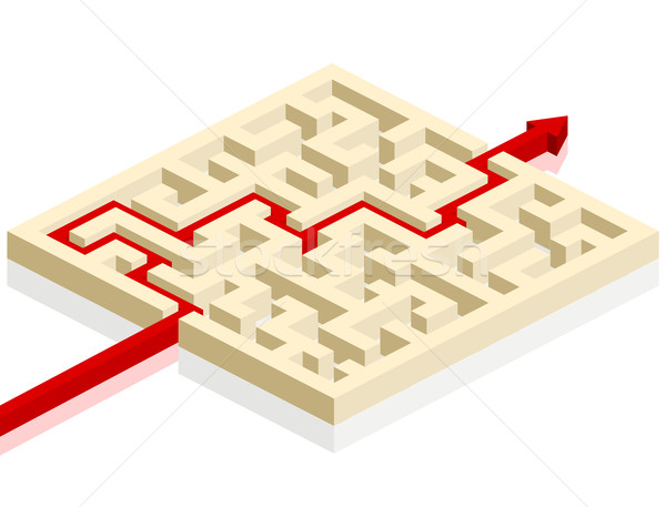 maze with arrow Stock photo © unkreatives
