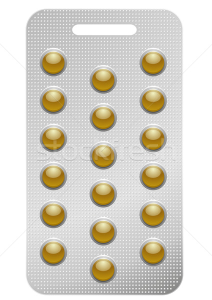 pack of round pills Stock photo © unkreatives