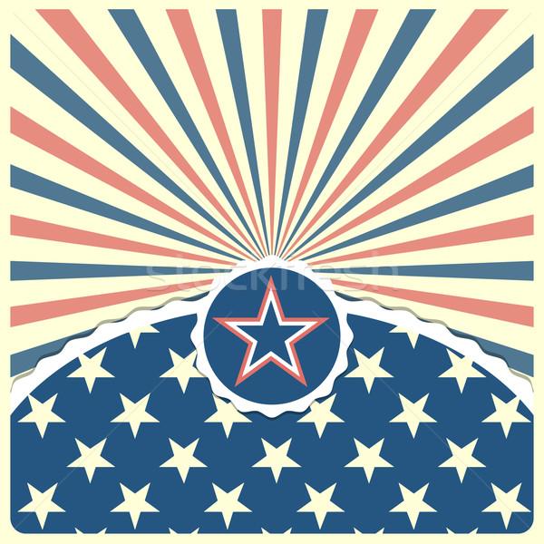 Csillag hazafias csíkos részletes illusztráció eps Stock fotó © unkreatives
