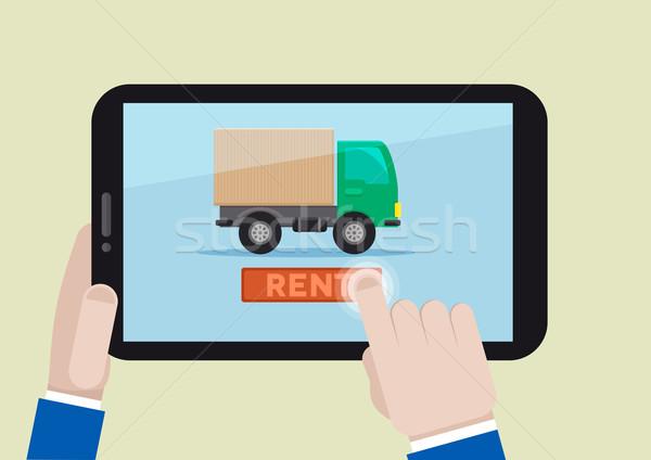 家賃 トラック 実例 携帯 ストックフォト © unkreatives