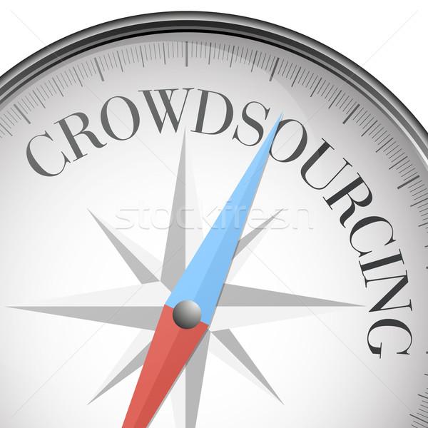 Pusula crowdsourcing ayrıntılı örnek metin eps10 Stok fotoğraf © unkreatives