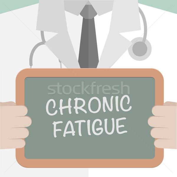 Tıbbi tahta yorgunluk minimalist örnek doktor Stok fotoğraf © unkreatives