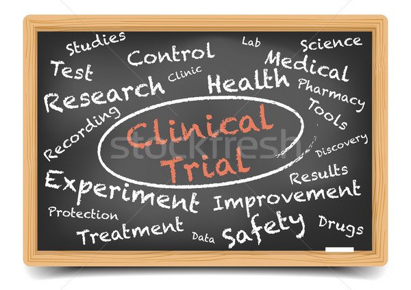 Clinical Trial Wordcloud Stock photo © unkreatives