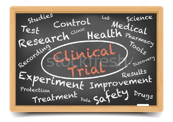 Klinisch gedetailleerd illustratie Blackboard eps10 Stockfoto © unkreatives