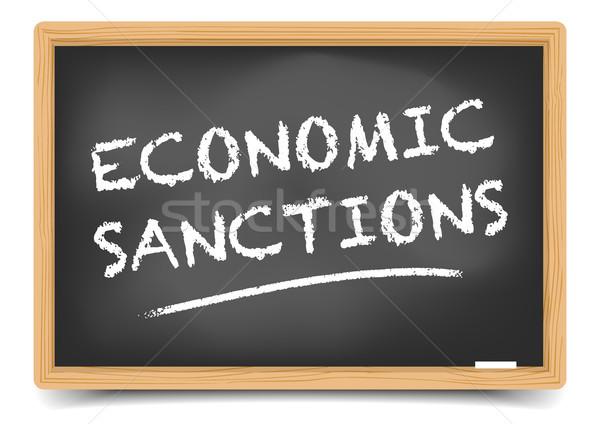 доске экономический подробный иллюстрация текста eps10 Сток-фото © unkreatives