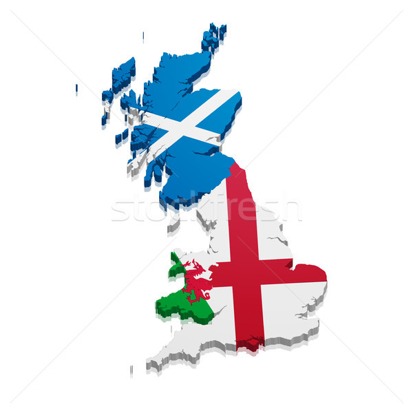 Map England Scotland Wales Stock photo © unkreatives