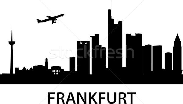 ストックフォト: スカイライン · フランクフルト · メイン · 詳しい · オフィス