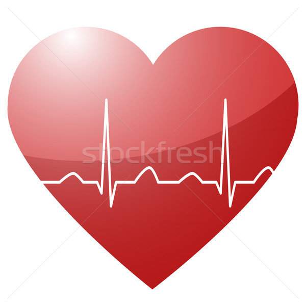 heart with curve Stock photo © unkreatives