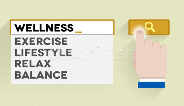 search wellness Stock photo © unkreatives