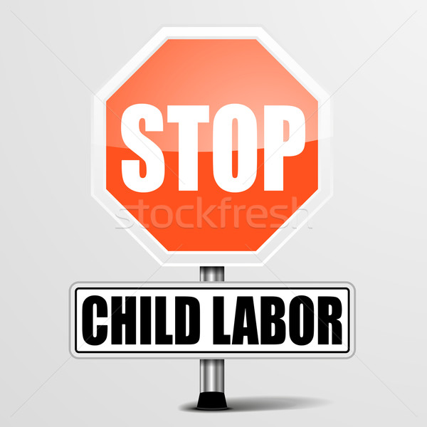 Stop Child Labor Stock photo © unkreatives