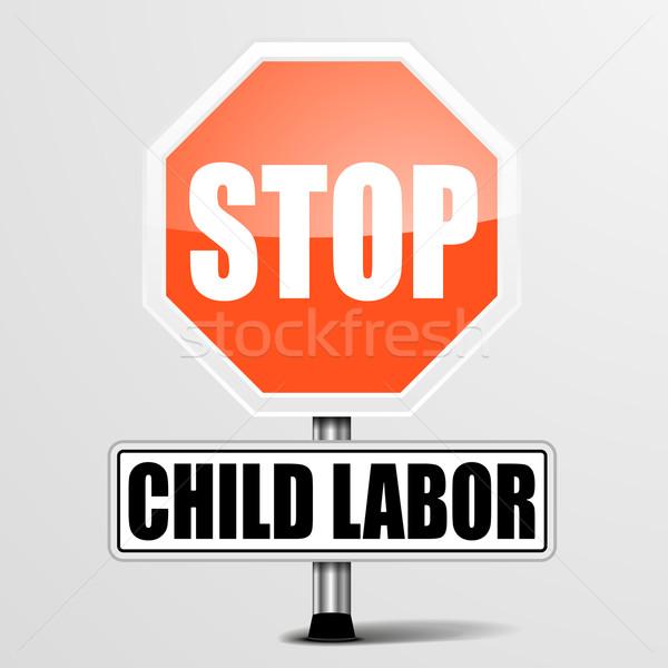 Durdurmak çocuk ayrıntılı örnek kırmızı Stok fotoğraf © unkreatives
