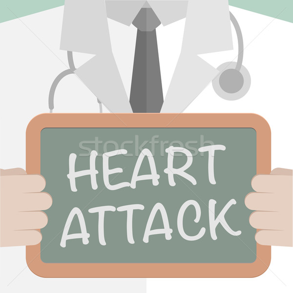 Hartaanval illustratie arts Blackboard Stockfoto © unkreatives