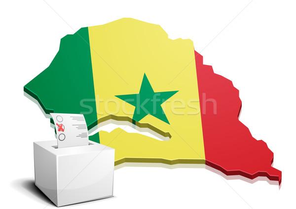 Senegal detalhado ilustração mapa eps10 vetor Foto stock © unkreatives