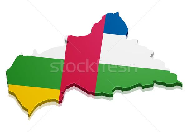 Pokaż centralny Afryki republika szczegółowy ilustracja Zdjęcia stock © unkreatives