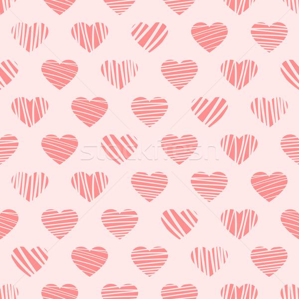 Vervormd harten patroon gedetailleerd illustratie modieus Stockfoto © unkreatives