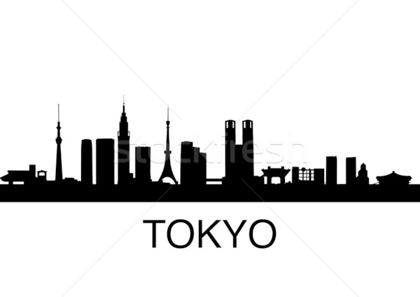 Tokio skyline gedetailleerd Japan business straat Stockfoto © unkreatives