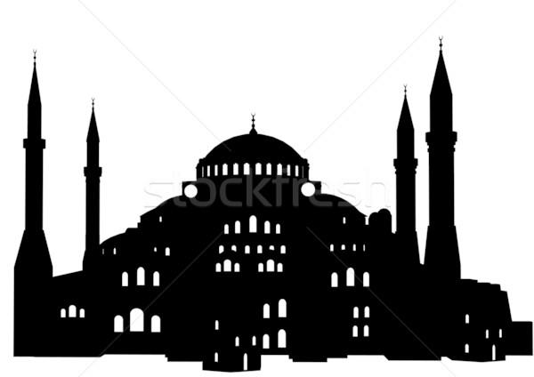 Sofía detallado ilustración Estambul Turquía edificio Foto stock © unkreatives