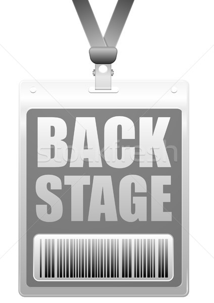 Stock photo: backstage badge