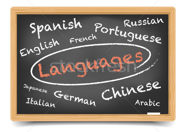 Blackboard Languages Stock photo © unkreatives