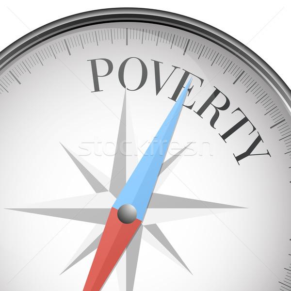 Kompas armoede gedetailleerd illustratie tekst eps10 Stockfoto © unkreatives