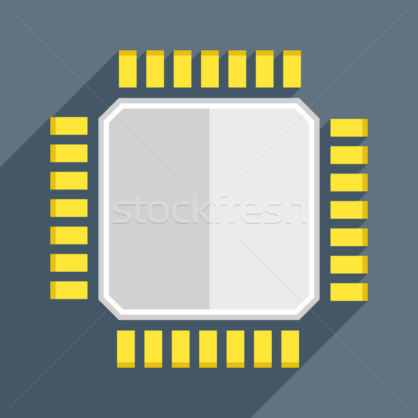 Cpu illustratie eps10 vector ontwerp Stockfoto © unkreatives