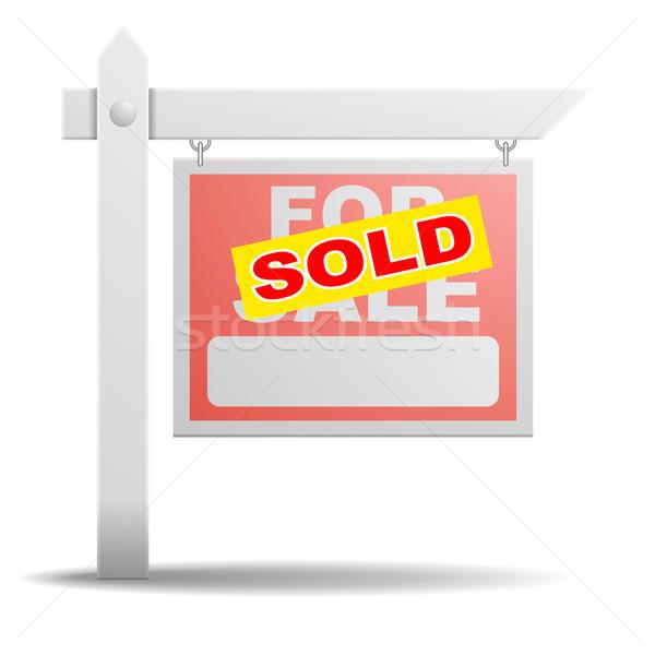 Vásár felirat részletes illusztráció ingatlan citromsárga Stock fotó © unkreatives